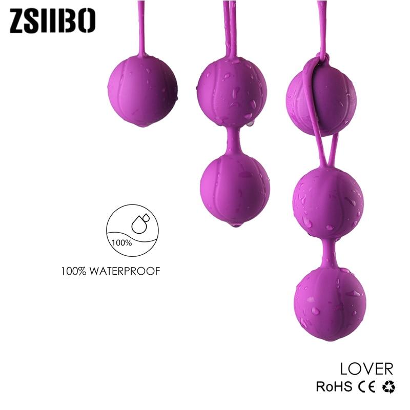 Safe Silicone Smart Ball Vibrator Cone Ball Ben Wa Ball Vagina Tighten Exercise Machine Sex Toy For Women