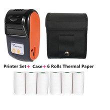 GOOJPRT Mini imprimante thermique Portable sans fil à tickets 58mm, connexion Bluetooth, impression Mobile de tickets de caisse
