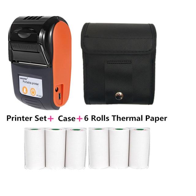 GOOJPRT Portable Mini 58mm Bluetooth Wireless Thermal Receipt Ticket Printer for Mobile PC Bill Machine Printer Impresora Recibo