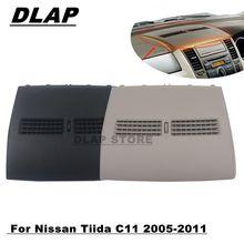Finalizador do carro-painel do instrumento para nissan tiida c11 2005-2011 saída de ventilação do condicionador de ar do meio do painel frontal do automóvel
