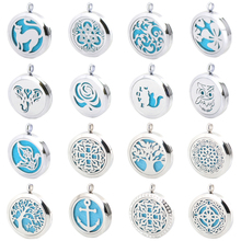 New Arrivev more than 25 styles Aromatherapy Essential Oil Surgical Stainless Steel Necklace Perfume Diffuser Pendant Locket