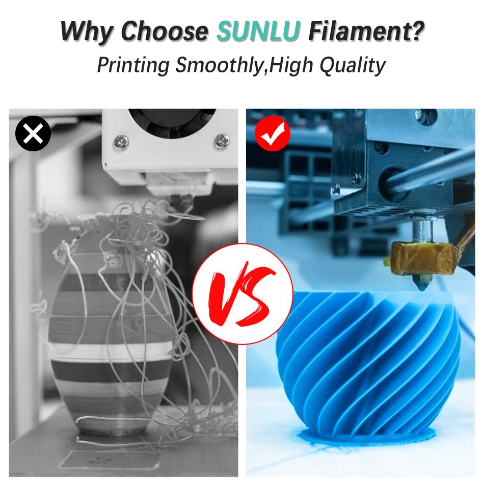 cheapest SUNLU PLA PLA 3D Printer Filament new Pollution-free material 1 75mm 1kg 2 2lbs with full color and top quality DIY 3d printing