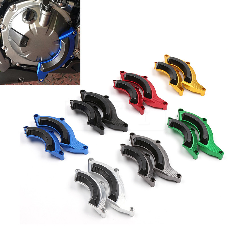 <font><b>Motorcycle</b></font> For <font><b>Kawasaki</b></font> <font><b>Z</b></font> <font><b>900</b></font> 2017 2018 Z900 CNC Engine Protective Pad Cover Falling Protection Sliders Guard Accessories image