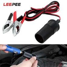 Clip Car-Battery-Terminal-Clamp Cigarette-Lighter Adaptor Socket-Plug Batteries Female