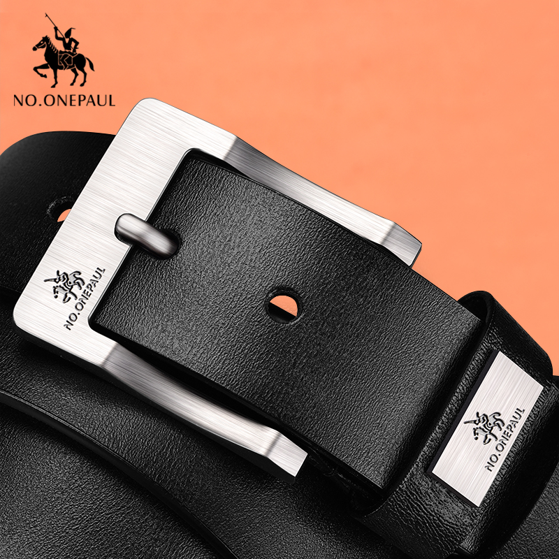 Image 3 - NO.ONEPAUL cow genuine leather luxury strap male belts for men new fashion classice vintage pin buckle men belt High Quality-in Men's Belts from Apparel Accessories