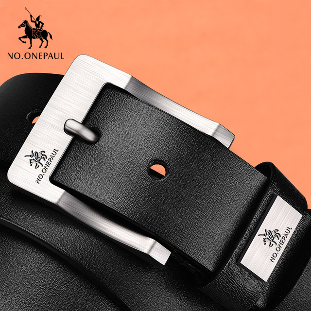NO.ONEPAUL cow genuine leather luxury strap male belts for men new fashion classice vintage pin buckle men belt High Quality 4