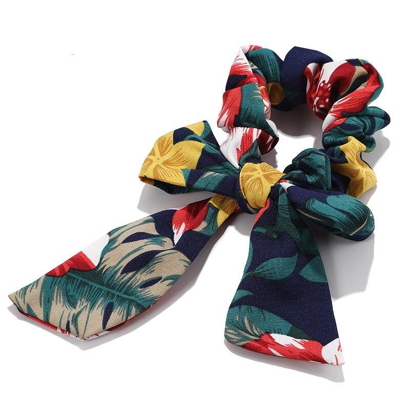 Mousseline de soie Cheveux Chouchous Femmes Mode Perle élastique pour queue de cheval Cheveux Cravate Cheveux Corde Élastiques Cheveux Accessoires couvre-chef en noeud 21