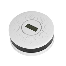 2In1 Smoke Detector Carbon Monoxide Detector LCD Screen Sound Warning High Sensor Home Security
