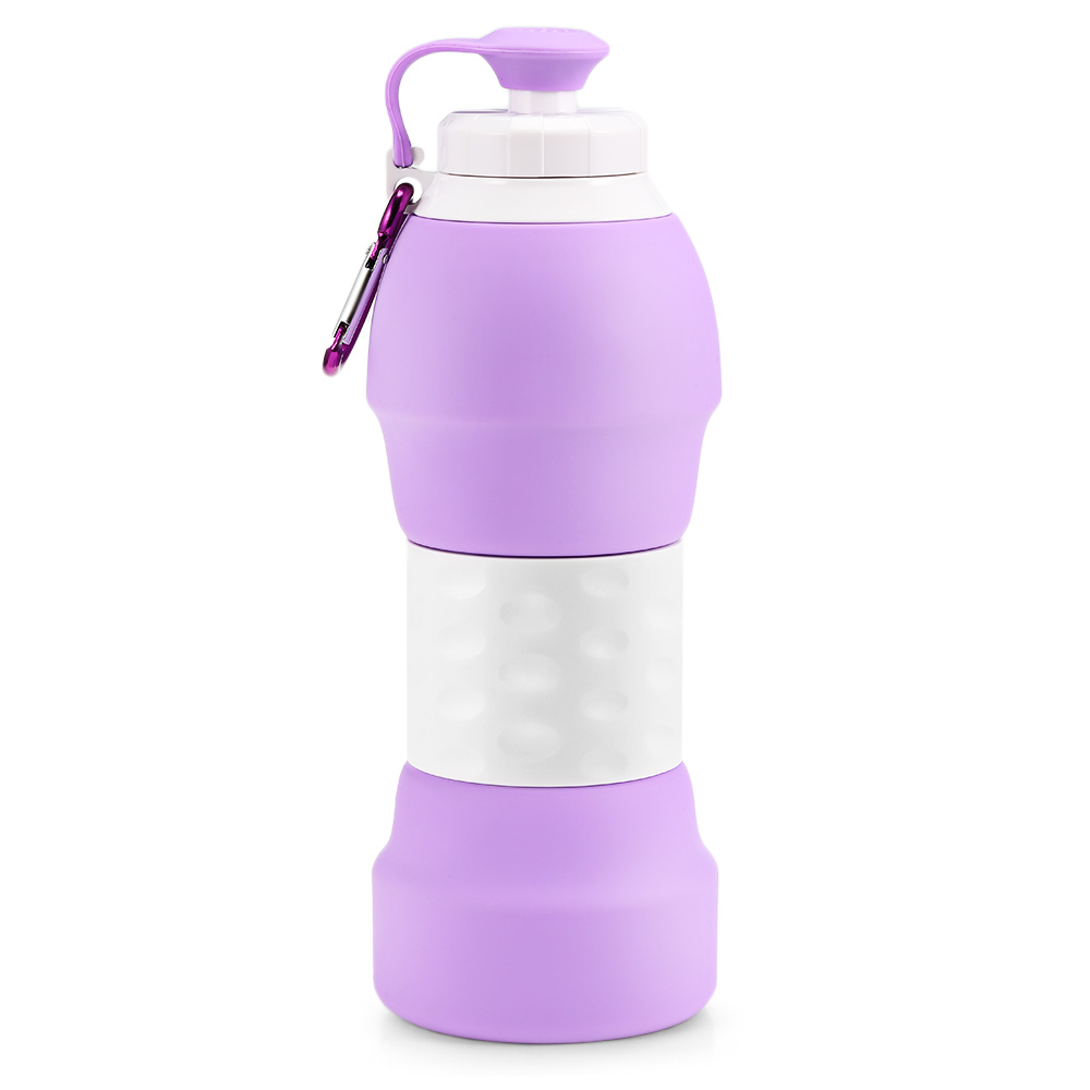 H5288ffc0531741f38bb310dd5c8cc13fE 500ML Portable Silicone Water Bottle Retractable Folding Coffee Bottle Outdoor Travel Drinking Collapsible Sport Drink Kettle