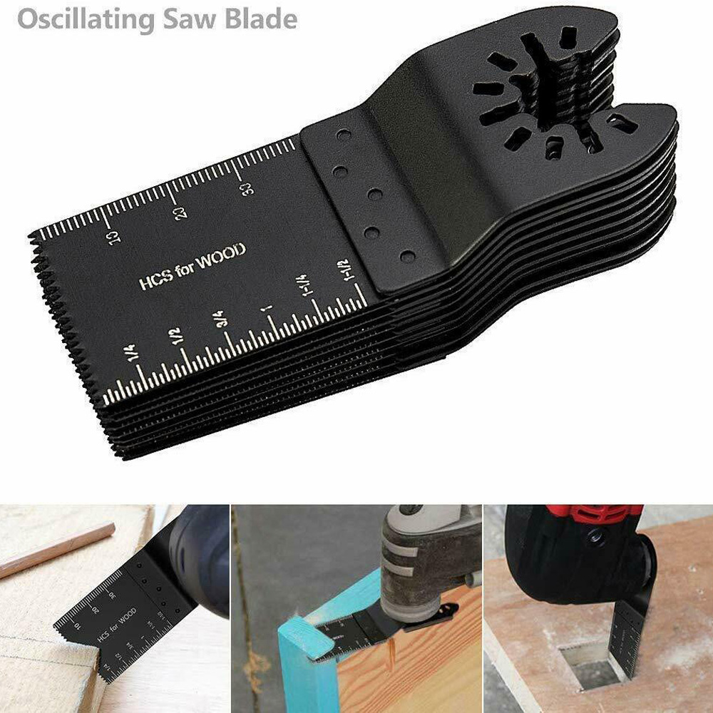 10PCS 34mm Oscillating Multitool Blades Saw Disc Carbon Steel Cutter DIY Universal Saw Blade For Cutting Plastic/Soft Metal/Wood