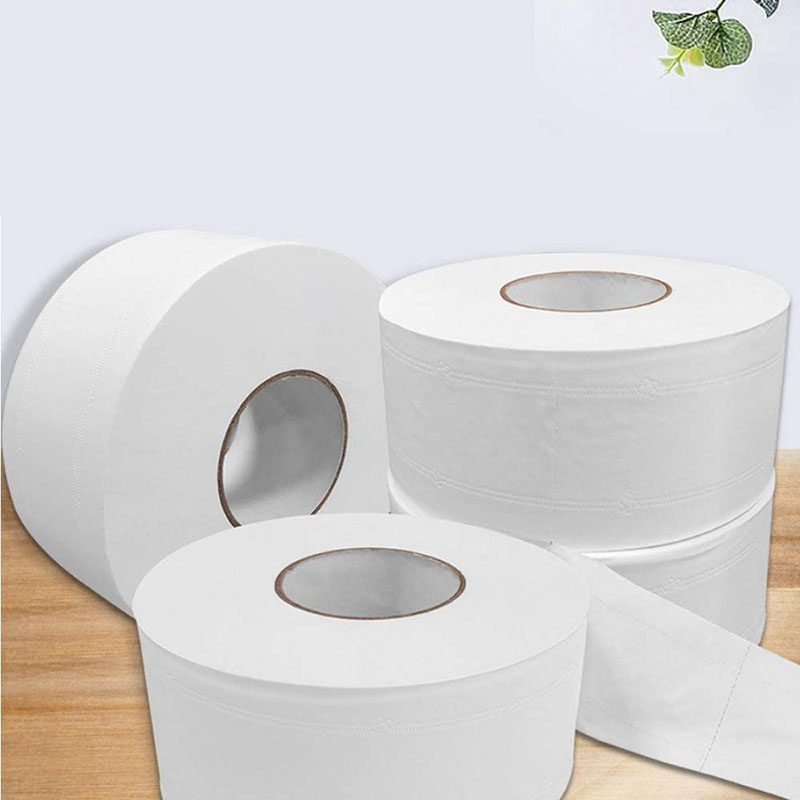 4 Ply Jumbo Roll Toilet Tissue,1 Big Roll Super Soft Bath Tissue Paper Strong Water Absorption Household Toilet Paper Roll