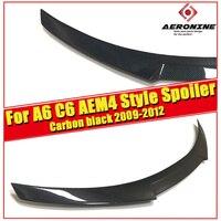 A6 sedan duckbill Trunk Spoiler Wing M4 Style Carbon Fiber For Audi A6 C6 Sedan 2009 2012 Rear Trunk Boot Lid Tail Wing Spoiler