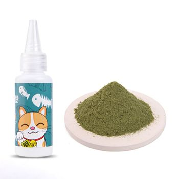 Natural Silvervine Powder Organic Cat Catnip Cleaning Teeth Kitten Cat Snacks Increased Appetite Healthy Supply Relieve Stress image