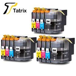 Tatrix LC23 LC23E LC23EXXL BK/C/M/Y nowy pełny pojemnik z tuszem do drukarki Brother MFC J5920DW w Tusze do drukarek od Komputer i biuro na