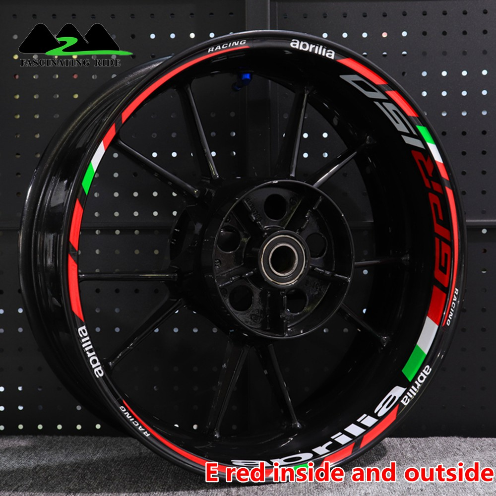 For Racing Aprilia Factory RS4 RS125/150 RSV4 GPR150 Motorcycle Wheel Sticker Decal Reflective Rim Bike Suitable