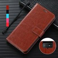 Funda con portatarjetas para ASUS Zenfone 7 ZS670KS, Funda de cuero de imitación Retro, cartera, bolsa de teléfono, correa de cierre