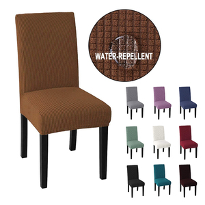 Cheap Jacquard Waterproof Dining Chair Cover Spandex Elastic Chair Slipcover Dining Room Chair Case for Wedding Hotel Banquet(China)