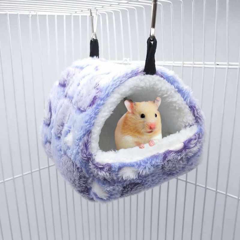 Piccolo Animale Domestico Criceto Sacco a Pelo Criceto Letto Casa Nido Inverno Caldo Squirrel Hedgehog Cincillà Caldo Sacco a Pelo in Cotone per Animali da Compagnia