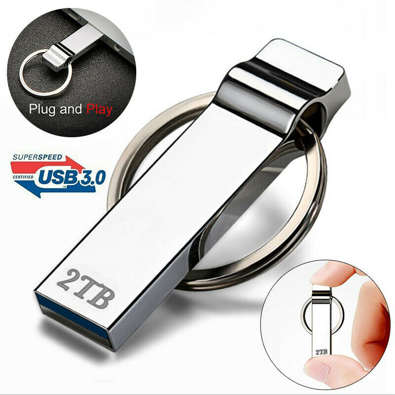 Computer Cables Connectors 2TB Metal Flash Drive Disk USB 3.0 Memory Stick Pendrive Disk For PC Laptop Office Accessories