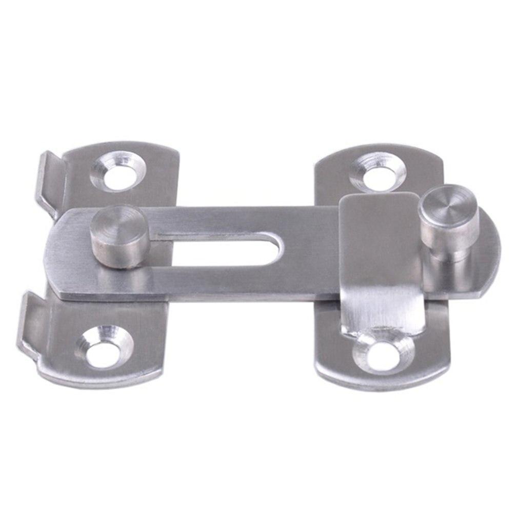 New Stainless Steel Hasp Latch Lock Sliding Door For Window Cabinet Fitting Mounted Door Buckle Security Sliding Door Latch