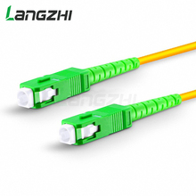 10 pièces Sc Apc à Sc Apc Simplex 2.0mm 3.0mm Pvc monomode câble de raccordement à fibres Fibra Optica cavalier cordon de raccordement à fibres Ftth