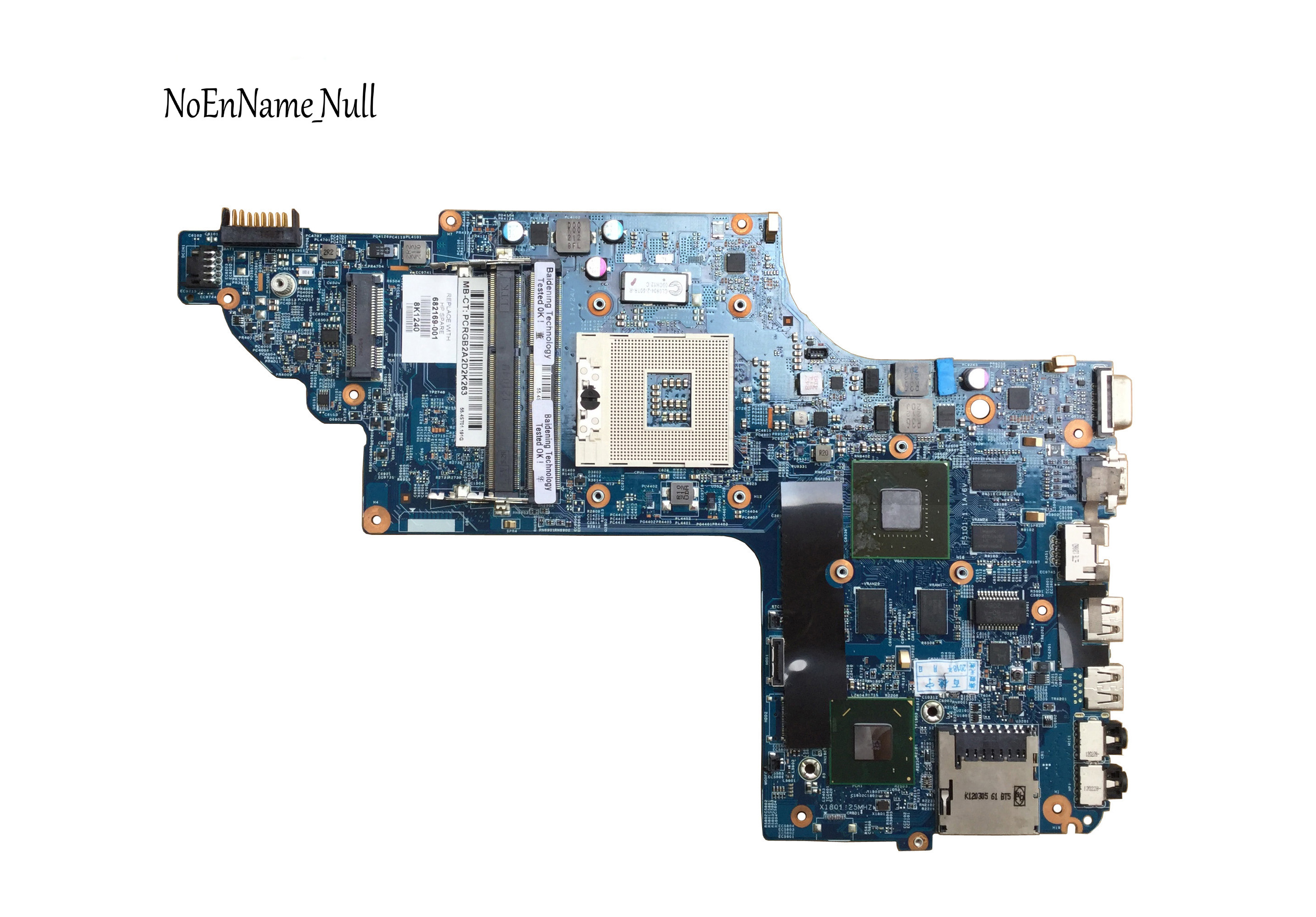 682169-001 682169-501 Free Shipping For HP DV6 DV6-7000 Laptop Motherboard 48.4ST10.031 GT630M 1G 100% Tested