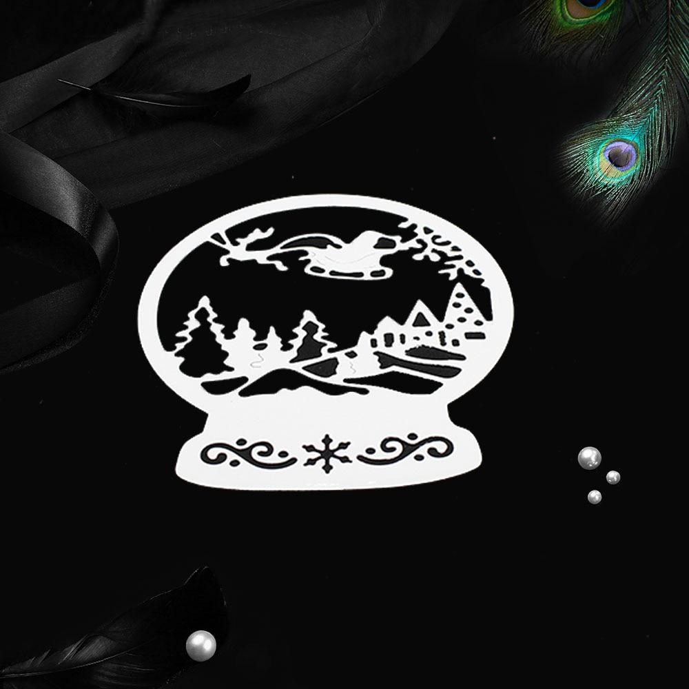 Mới Santa Quả Cầu Tuyết Giáng Sinh Cắt Kim Loại Chết Cho Thủ Công Chết Thêu Sò Nổi Chết Cắt Mùa Đông Cảnh Trang Trí|Khuôn Cắt|   - AliExpress