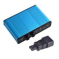 1 Uds USB 6 canal 5,1 tarjeta de sonido externa Audio SPDIF y 1 Uds IEC 320 C14 hombre a C7 adaptador hembra para corriente