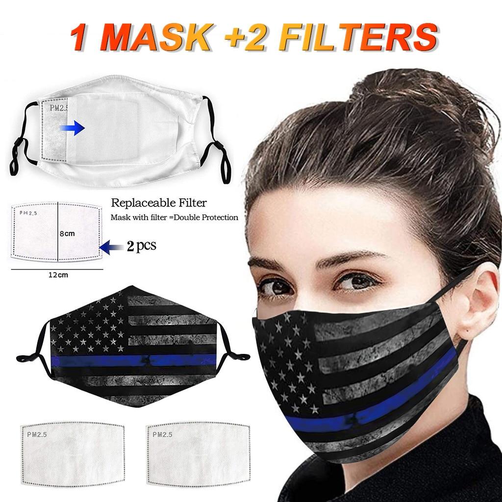 Модная маска для лица с принтом PM2.5 маска с активированным углем фильтры пыленепроницаемые защитные маски Моющиеся Многоразовые маски