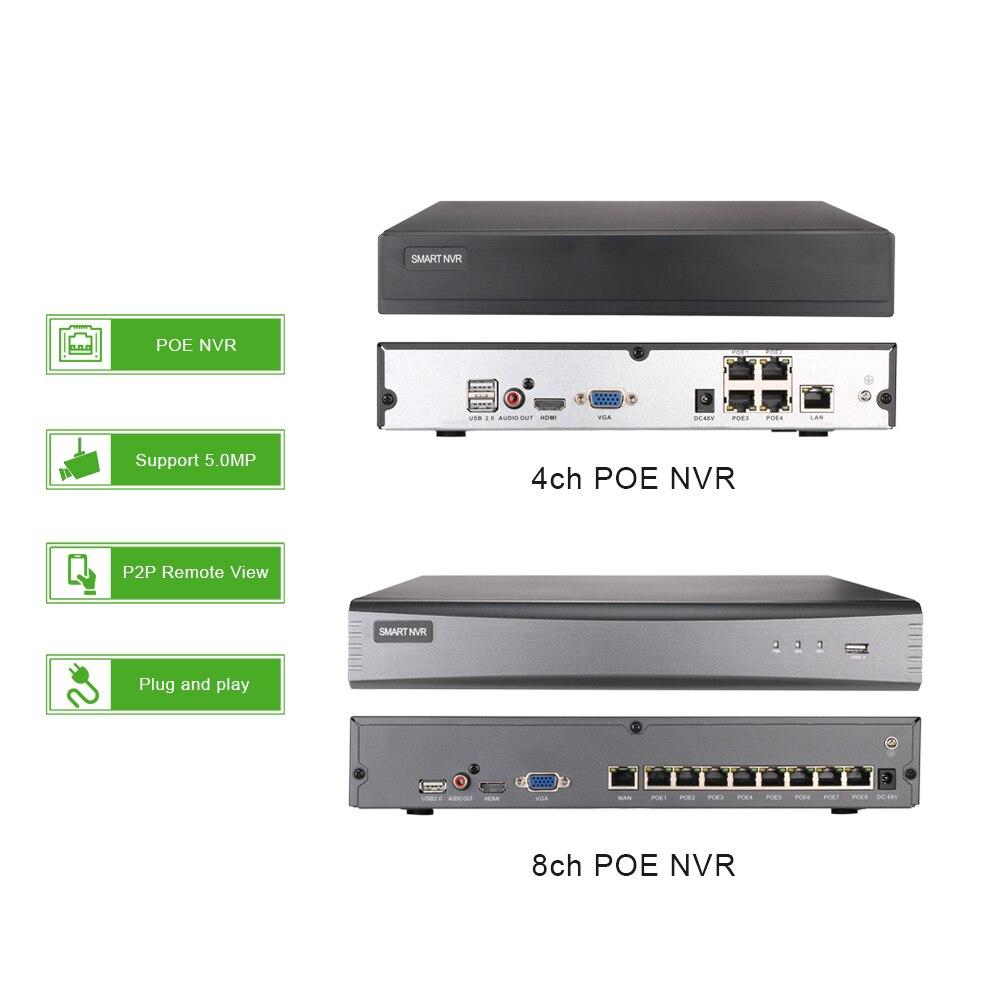 4ch 5MP POE Audio Kit Intelligente H.265 System CCTV Sicherheit NVR 5MP Indoor IR IP Kamera Überwachung Video P2P G. handwerker