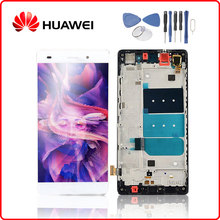 Original For HUAWEI P8 Lite LCD Display Touch Screen Digitizer For Huawei P8 Lite Display with Frame Repacement ALE-L04 ALE-L21 недорго, оригинальная цена
