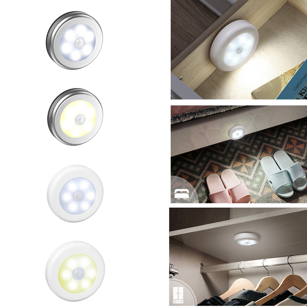 6 LED Night Light PIR Infrared Motion Sensor Night Lamp For Children Magnetic Infrared Wall Lamp Cabinet Stairs LED Sensor Light