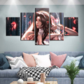 5 stück Braut Aerith Öl Malerei FF7 Remake Spiel Malerei Leinwand Kunst Farbe Tapete Spiel Poster Wand Abdeckung Wohnkultur wand Kunst