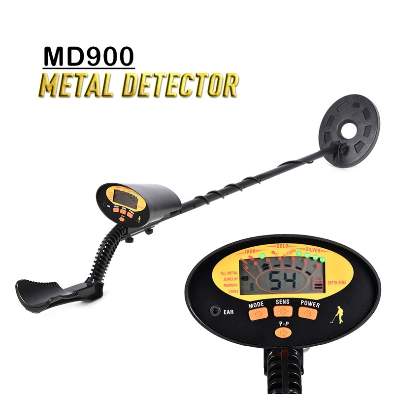 MD900 LCD Underground Metal Detector Pinpointer Portable Treasure Scanner Finder Tool 4+1 Modes Underground Metal Detector|Industrial Metal Detectors| |  - title=