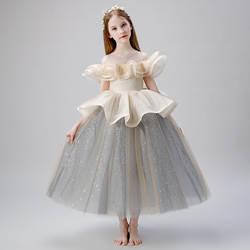 Нарядное платье для маленьких девочек; Детские костюмы на фортепиано; платье принцессы для девочек с цветочным рисунком