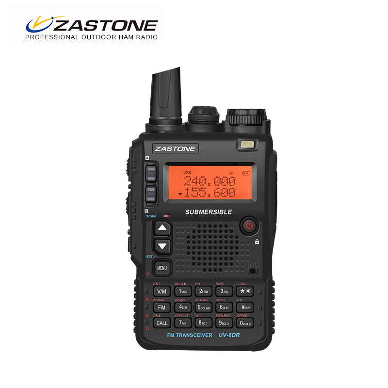 ZASTONE 8DR Portable Walkie Talkie Ham Radio Communicator Transceiver Portable Walkie-talkie