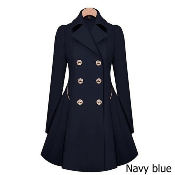 Zogaa 2020 new women trench coat Autumn Women Double breasted Warm Windbreaker Causal Long ladies trench coat female Plus Size