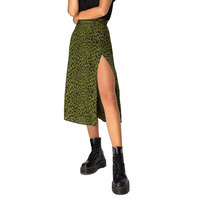 leopard green Skirt
