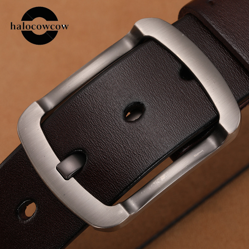 Cow Leather Belt Vintage Cowboys Men Genuine Leather Soft Coffee Belts Luxury Designer Belts High Quality Strap Luxury Brands