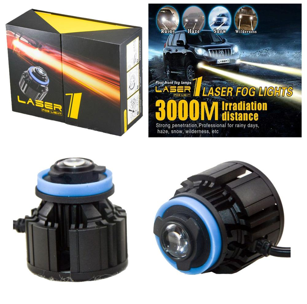 2PCS L1 LED Laser Fog Headlight Car Front Lights Bulb H8 H9 H11 9005 9006 26W 2600LM 3000M Meter Irradiation Distance Auto Lamp