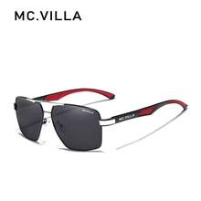 Mc. villa men vintage alumínio polarizado óculos de sol marca clássica lente de revestimento de condução eyewear para homem/mulher m6608