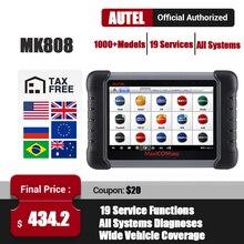 Autel MaxiCom MK808 OBD2 الماسح الضوئي OBDII سيارة أداة تشخيص نظام كامل autootivo أداة مسح ضوئي مفتاح الترميز السيارات رمز القارئ PK MX808