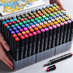 Набор маркеров TOUCHCOOL 40/60/80/168/262 цветов, маркер для рисования аниме и набросков, маркеры на спиртовой основе с двойной головкой для рисования