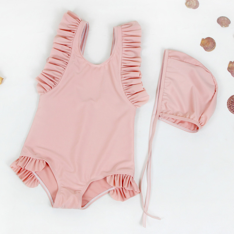 2019 New Products CHILDREN'S Swimwear Small Clear Girls One-piece Bikini Swimwear Sleeveless Lace-up CHILDREN'S Swimsuit