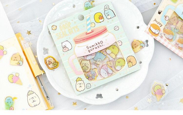 Rilakkuma Хрустальная капельница прозрачные дневные декоративные наклейки Скрапбукинг палочка этикетка канцелярские наклейки для дневника, альбома
