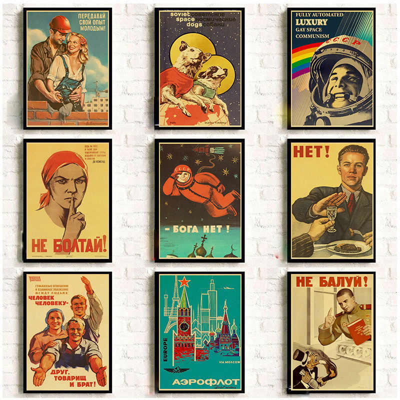 Vintage Stalin Ussr Cccp Poster Goede Kwaliteit Prints En Posters Wall Art Retro Posters Voor Thuis Kamer Muur Decor Sticker
