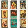 ВИНТАЖНЫЙ ПЛАКАТ в стиле Сталина СССР, печатные и плакаты хорошего качества, настенные художественные ретро-Плакаты для домашней комнаты, Н...