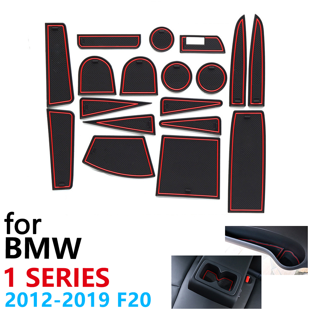 Anti-Slip Rubber Cup Cushion Door Groove Mat For BMW 1 Series F20 M Power 2012~2019 116 118 120 116i 118i 120i 116d 118d 120d