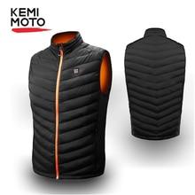 KEMIMOTO Electric Heated Vest Heating Waistcoat USB Thermal