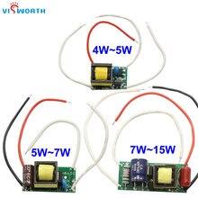 Приглушаемый светодиодный драйвер 3 Вт, 5 Вт, 7 Вт, 15 Вт, 110 мА, светодиодный драйвер переменного тока 220 В, 240 в, в, источник питания для Светодиод...